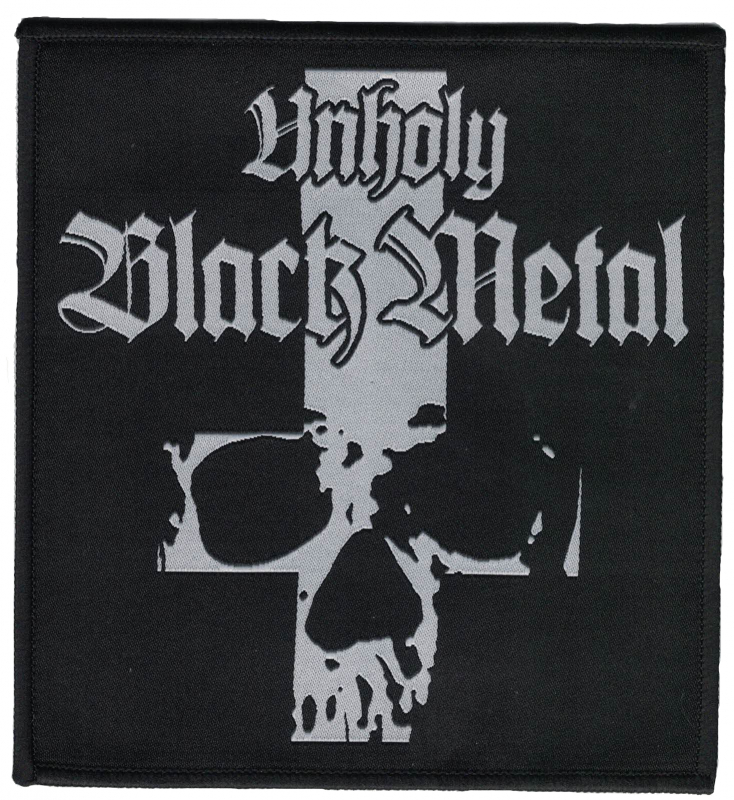 Unholy Black Metal - Inverted Cross (Patch)