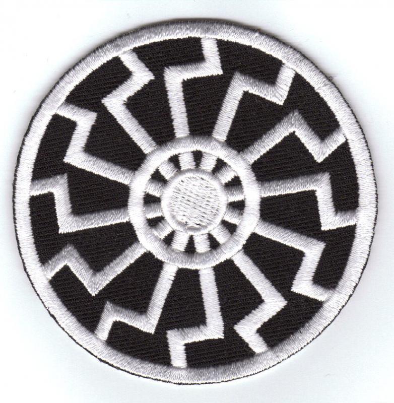 Black Sun (white) Patch