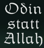 Odin statt Allah (Autoaufkleber)
